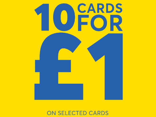 Card Factory 10 for £1