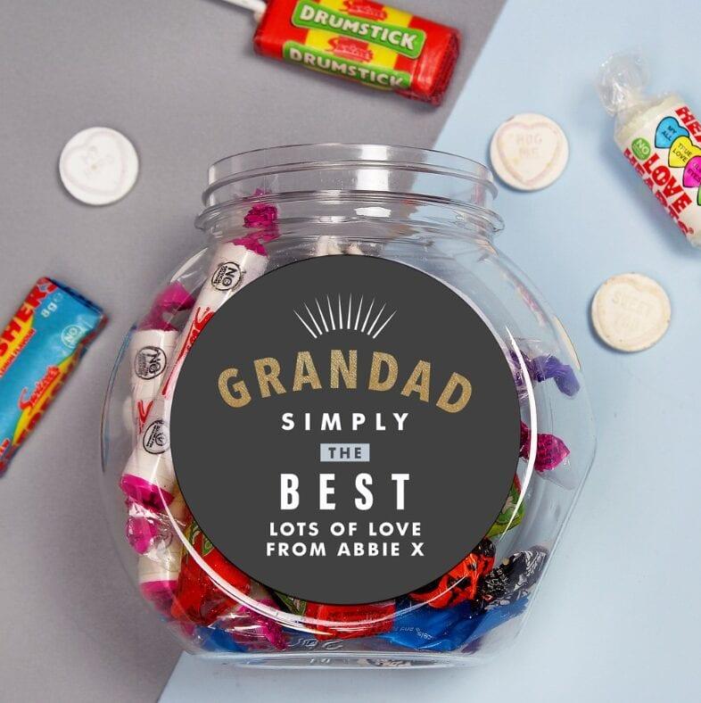 Card Factory - Grandad Simply The Best Personalised Sweet Jar - £7.99