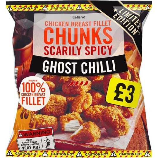 Spicy Ghost Chilli Chicken Breast Fillet Chunks