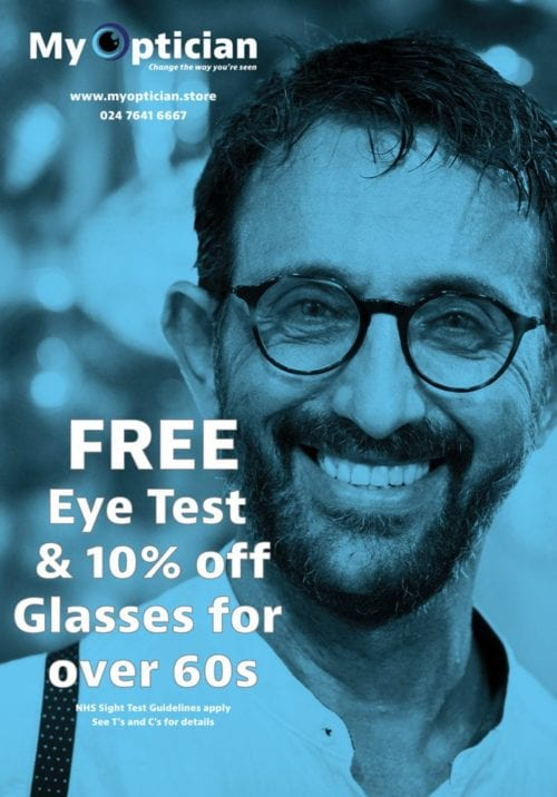 free eye tests for over 60s