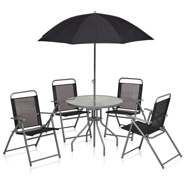 Wilko – Round Patio set black 6 piece – £60 - Wilko - Round Patio Set Black 6 Piece - £60 - Cannon Park